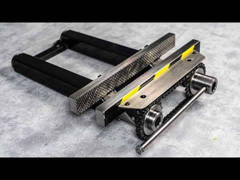 How To Make A Bench Vise -  DIY Metal Bench Vice