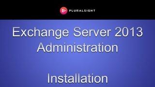 Installing Exchange Server 2013