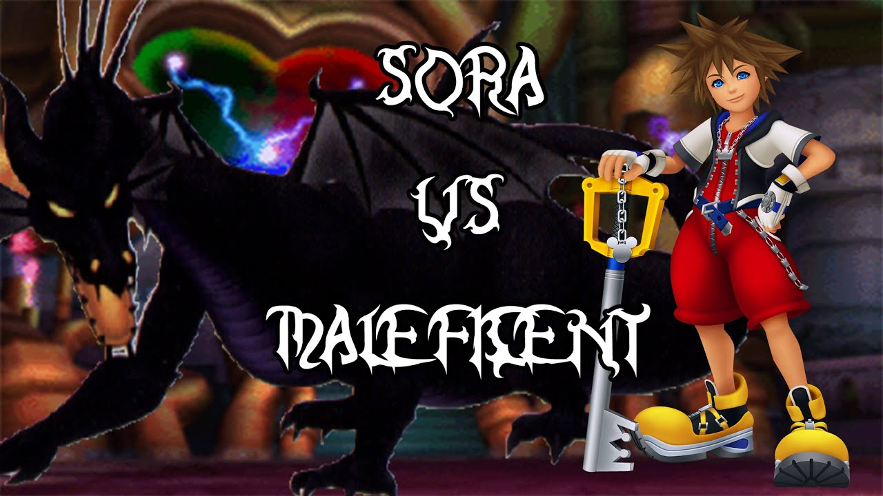 Sora Vs Maleficent Dragon Kingdom Hearts 1 5 Hd Remix Proud Mode