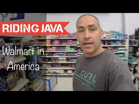 Shopping at Walmart in America