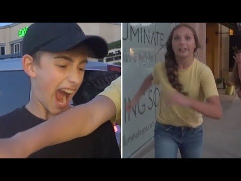 Maddie Ziegler ATTACKS Johnny Orlando Outside Restaurant