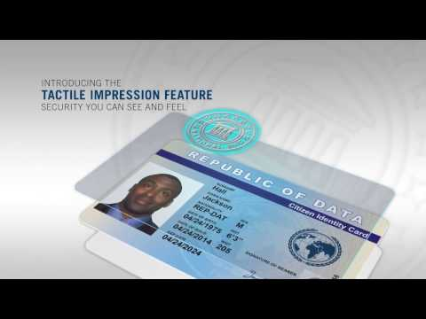 Tactile Impression ID Card Security Feature