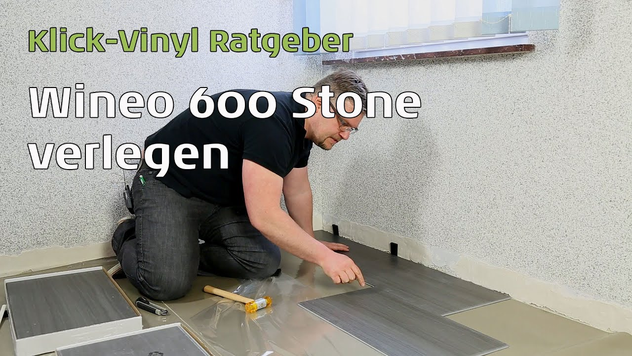 Klick Vinyl Erfahrungen : wineo 600 stone vinylboden verlegen youtube ~ Watch28wear.com Haus und Dekorationen