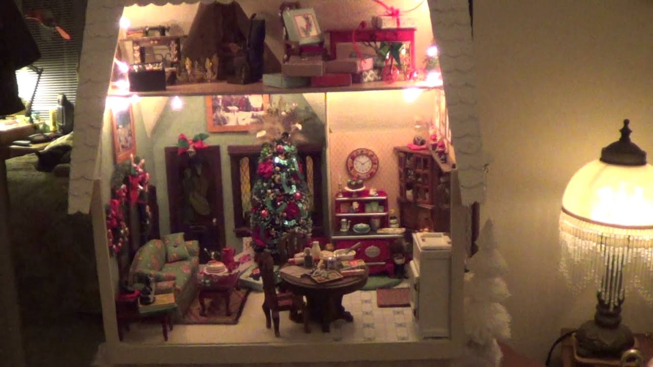 carolines dollhouse projects christmas 2013 youtube - Dollhouse Christmas Decorations