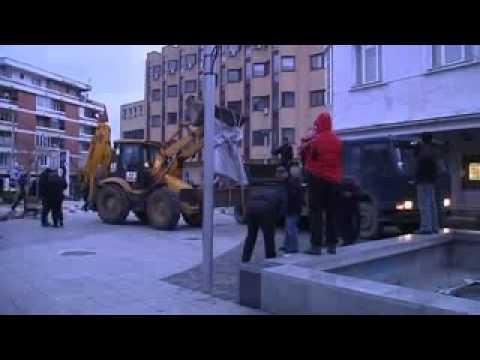 serbian army terror destroying Albanian monuments