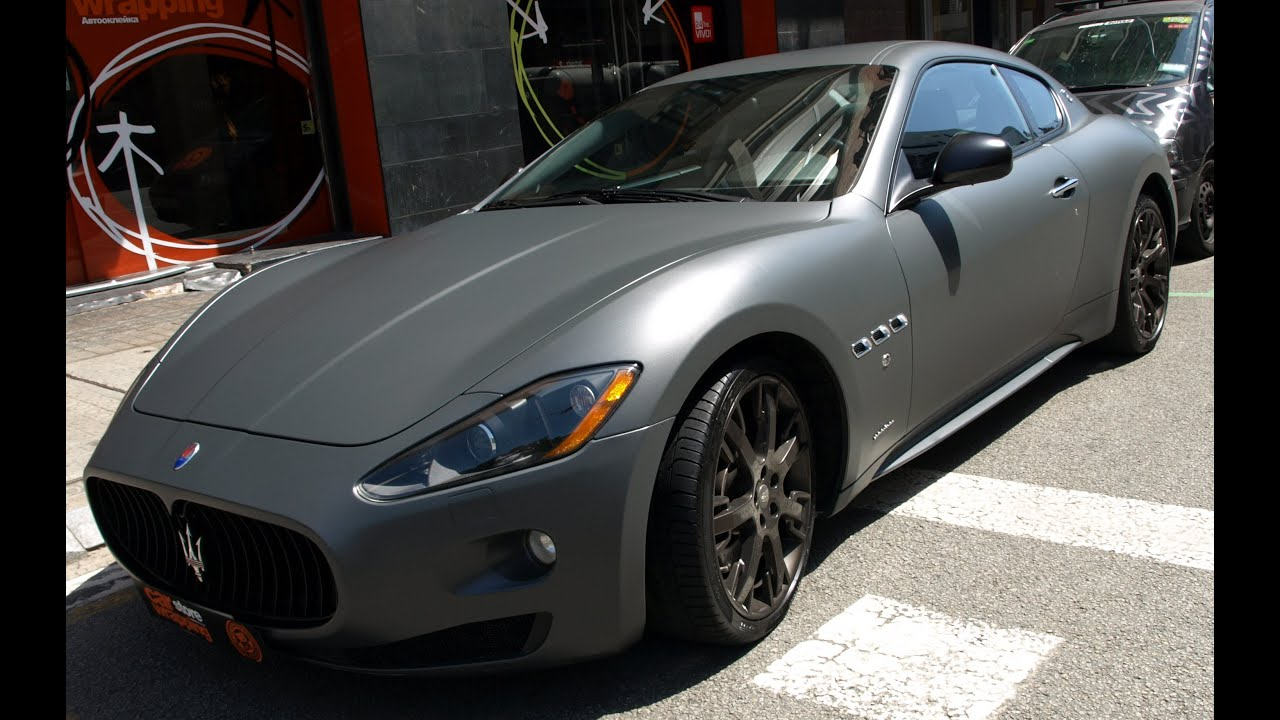 Maserati Granturismo R >> Te harías una Maserati en Gris Mate Metalizado? - Car Wrapping by Pronto Rotulo since 1993 - YouTube