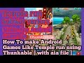 How To make Android Games Like Temple run in Thunkable [ with aia file ]