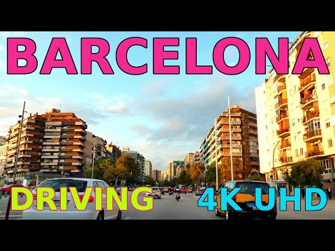 Drive in Barcelona 2020 @ 4K UHD avinguda Meridiana typical daily traffic
