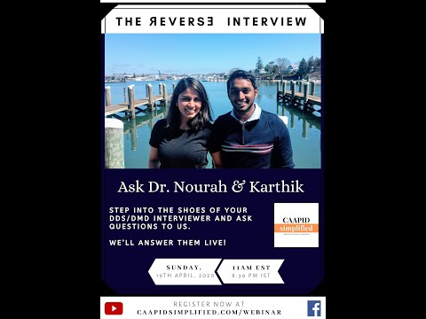 US Dental Interview Questions Answered Live  {Webinar }