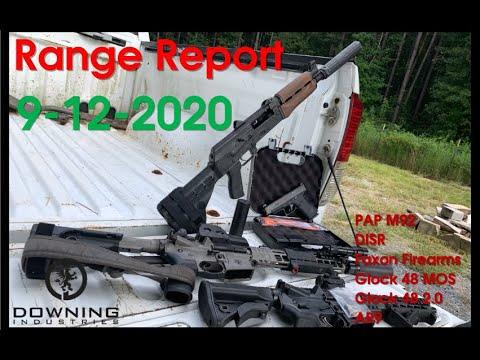 Range Report, 9-12-2020