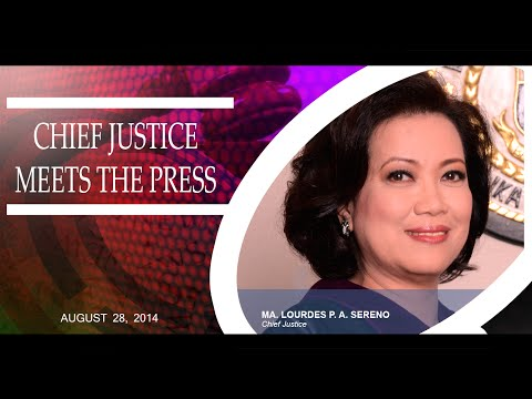 The Chief Justice meets the Press 2014