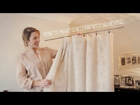 How To Make Curtains Without Sewing In Minutes!