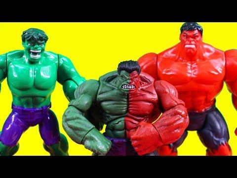 Hulk Smash Brothers Turn Into Compound Hulk & Battle Imaginext Joker Villains + Batman Batmobile Toy