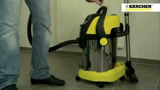 Kärcher wet and dry vacuum cleaners Demo (Demonstration cleaning all types of dirt)