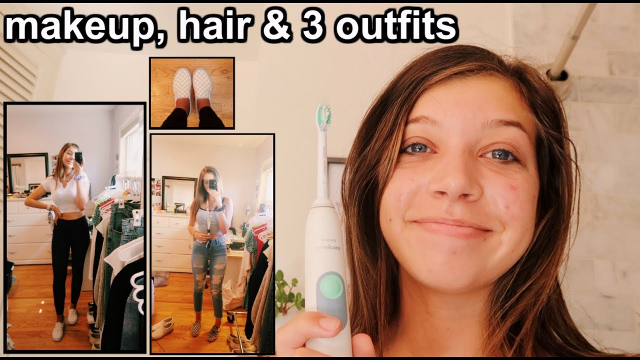 [VIDEO] – FIRST DAY OF SCHOOL GRWM (3 outfits, makeup, & hair)