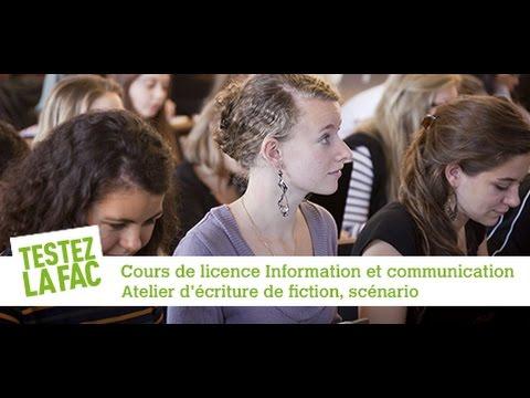 Testez la fac - TD Atelier d'écriture de fiction, scénario