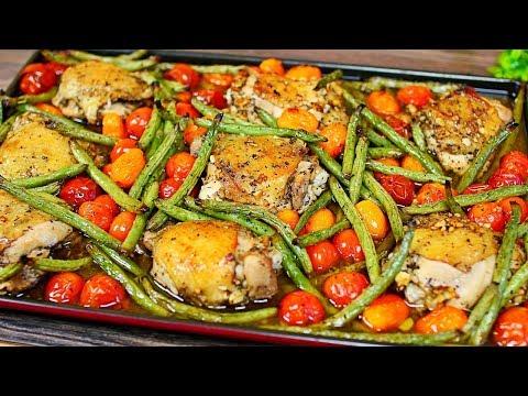 One Pan Garlic Roasted Chicken and Veggies Easy Chicken & Vegetables