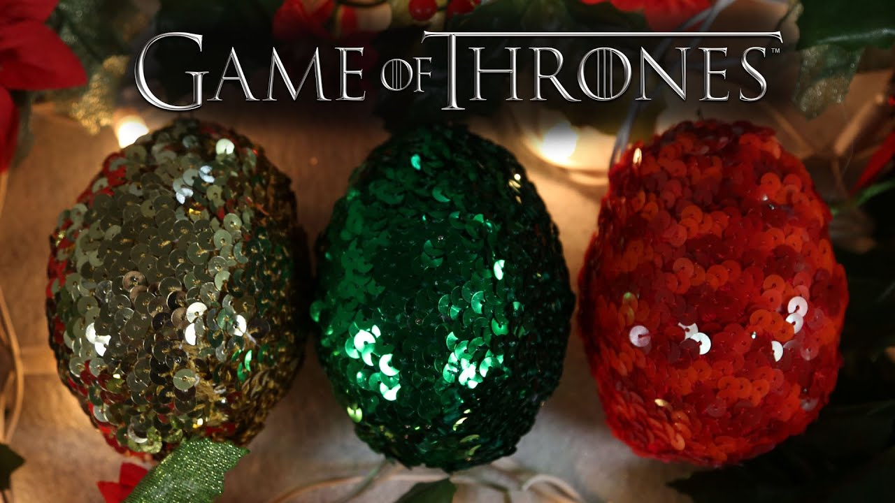 dragon eggs xmas ornaments game of thrones diy gg youtube - Christmas Decoration Games
