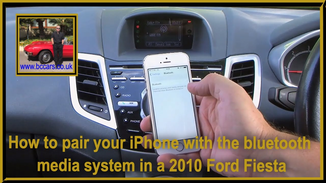 How to pair your iphone with th bluetooth media system in a 60 plate ford fiesta youtube