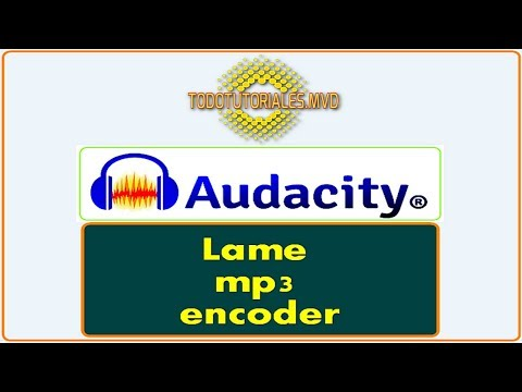 Lame MP3 encoder para Audacity