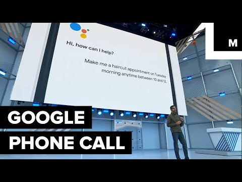[VIDEO] Google Assistant makes a real phone call