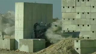 شاهد بالتصوير البطيء كيف نجح صاروخ تركي جديد في اخترق جدارا إسمنتيا ضخما