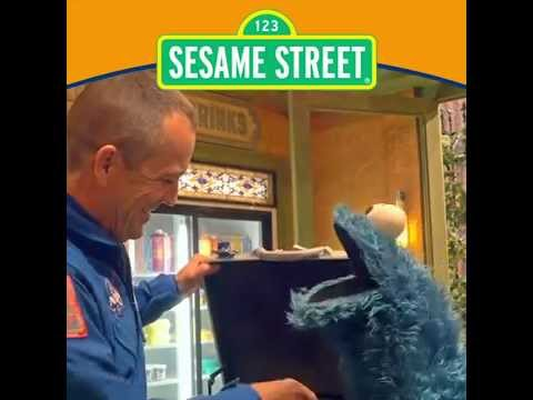 NASA Astronaut Returns Sesame Street Mementos Flown on Orion Spacecraft (Cookie Monster's cookie)