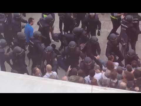 Càrrega policial a Lleida
