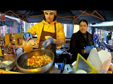 Italian Dumplings Drenched in Melted Cheese and Italian Sauces. 'Gnocchi' London Street Food