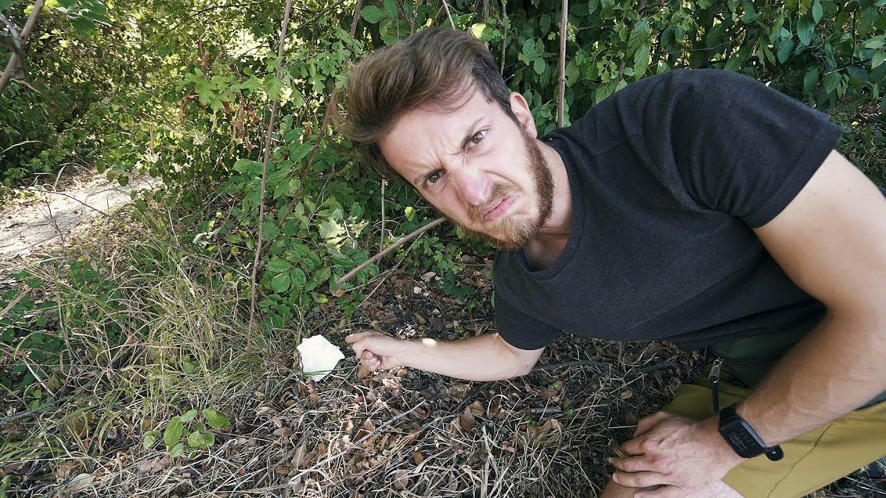 Come fare la cacca nel bosco (con bidet)
