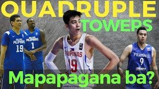 Gilas Quadruple Towers: Blatche Sotto Slaughter Fajardo Mapapagana ba ni coach Yeng Guiao?