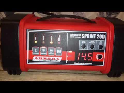Десульфатация аккумулятора Aurora Тюмень Премиум 85Ач прибором Aurora Sprint 20D
