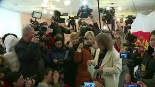Ксения Собчак проголосовала на выборах президента России