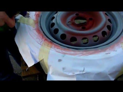 Lakierowanie felgi stalowej Corsa B.