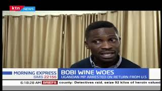 Bobi Wine receives a warm welcome