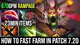 How to Fast Farm in 7.20 [Medusa] Ultimate Tanky 1st Butterfly With RAMPAGE 17KIlls Immortal Dota 2