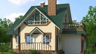 видео Проекты домов для узких участков RuPlans. Топ-20