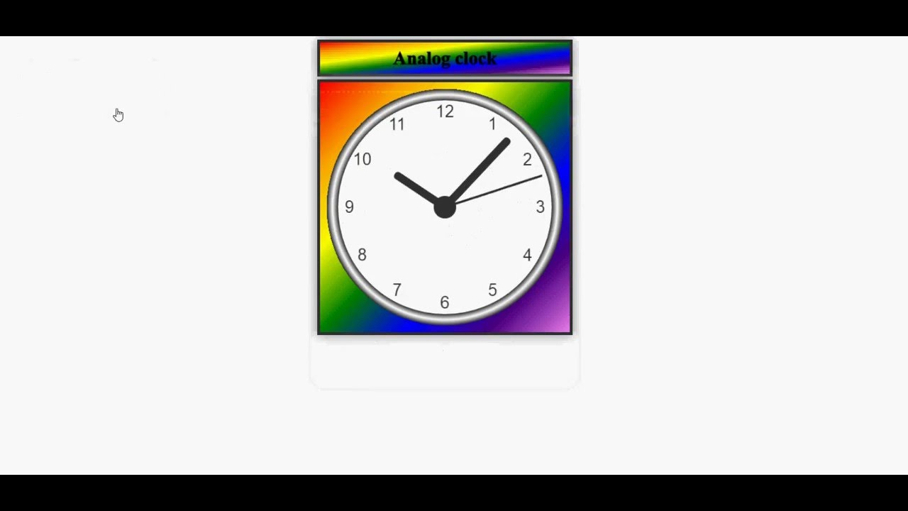 Building Analog Clock by using HTML5, CSS3 and Javascript