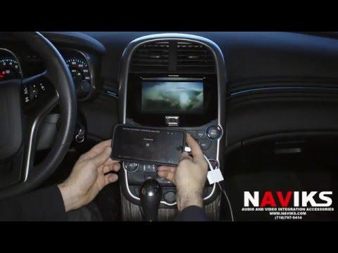 2015 Chevrolet Malibu NAVIKS HDMI Video Interface Add: Rearview Camera, Smartphone Mirroring