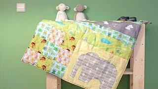 Babydecke selber nähen (Patchworkdecke) – DIY Eule