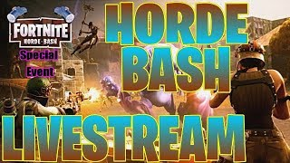 FORTNITE ⚡HORDE BASH ⚡ SPECIAL EVENT ⚡HOW DIFFICULT CAN IT GET?!