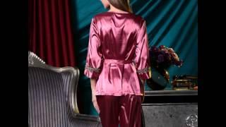 silk pajamas spring and autumn