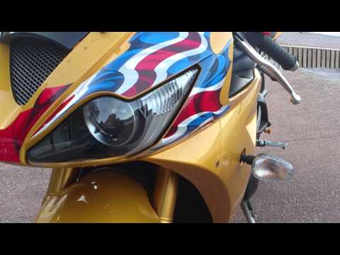 Triumph Daytona  front cowl fairing removal