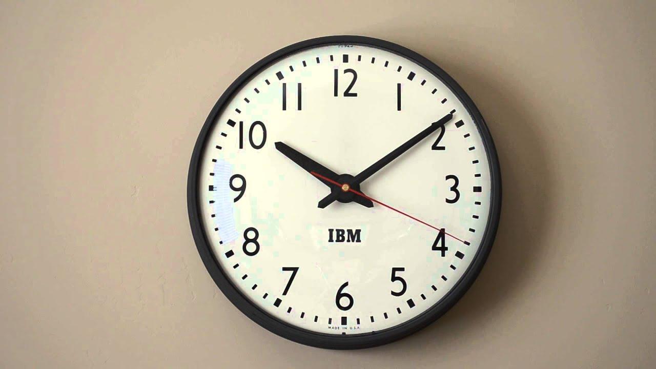 Ibm Simplex Schoolhouse Clock Quartz Conversion Doovi
