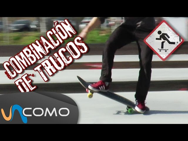 Combinación de trucos de skate básicos