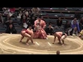 【新十両対決】 阿炎 vs 石浦 2015大相撲三月場所13日目 Abi vs Ishiura SUMO