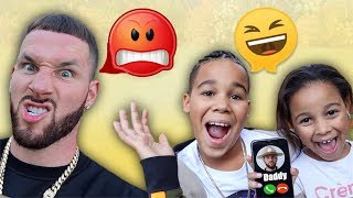 FamousTubeKIDS Prank Call Daddy | Kids Pretend Play