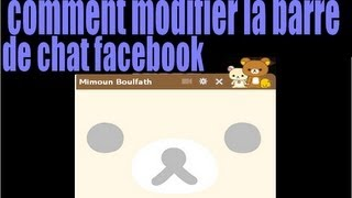 comment modifier la barre de chat facebook