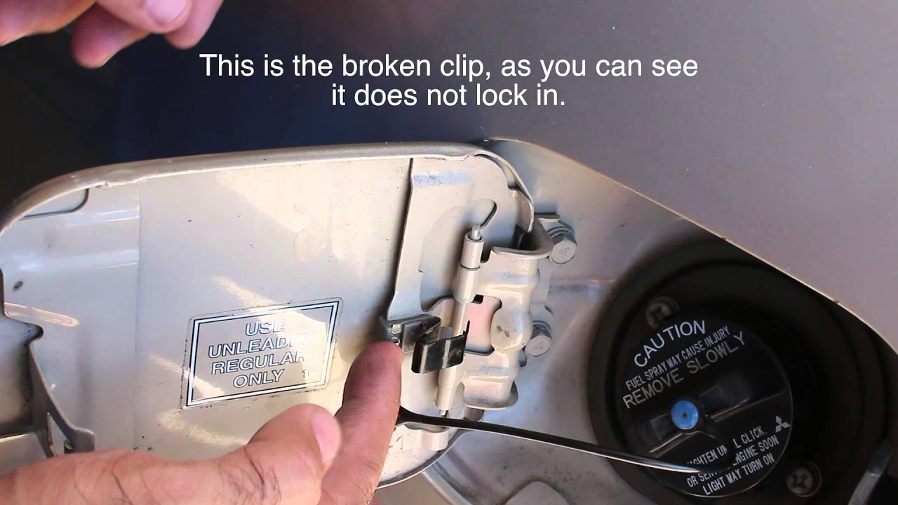 Mitsubishi Lancer Fix; Gas Door will not open fixed by