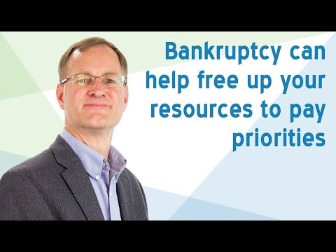 Bankruptcy can help free up your resources to pay priorities